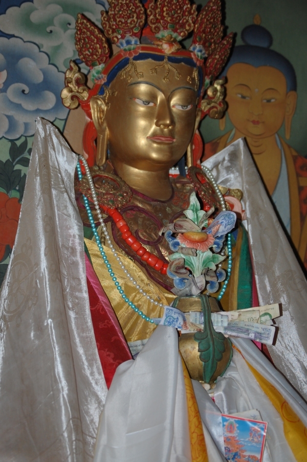 Buddha Statue with offerings