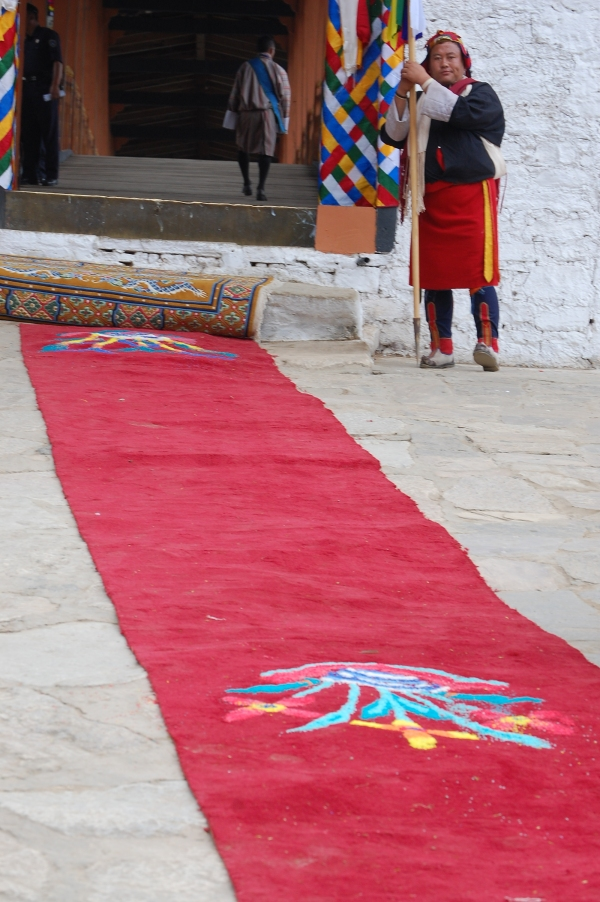The Royal Red Carpet at Punakha Dzong