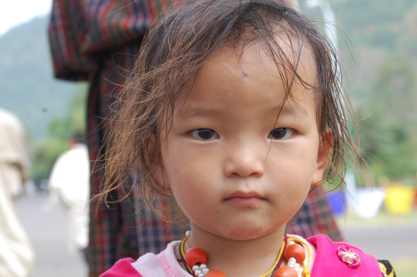 Pretty little Bhutanese girl