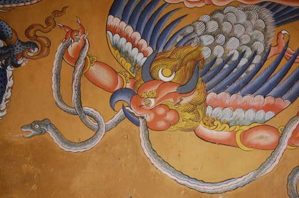 garuda with snake