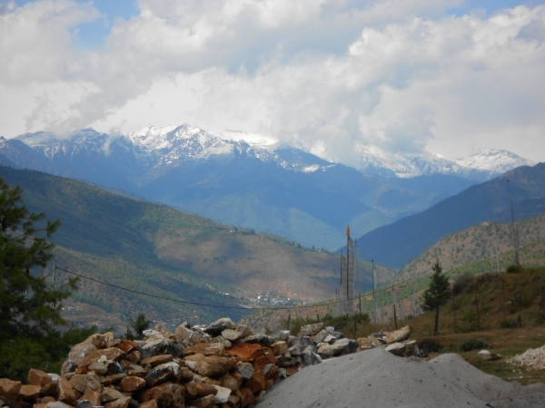 Paro Valley Snow on the mountains