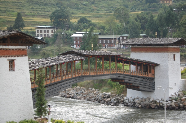 Bridge over River Mocchu at Punakha Dzong