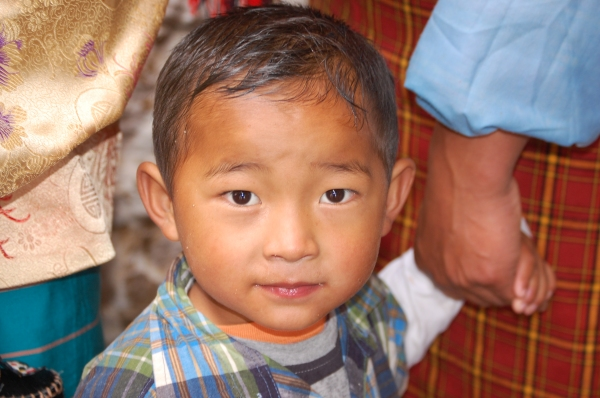 little Bhutanese boy